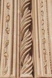 ornamentacyjne piękne spirale na Orvieto katedrze w Orvieto, Rzym zdjęcie stock
