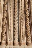 ornamentacyjne spirale na fasadzie Orvieto katedra w Orvieto, Rzym obrazy royalty free