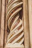 ornamentacyjne spirale na Orvieto katedrze w Orvieto, Rzym obraz stock