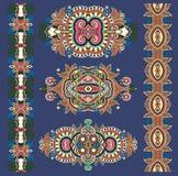 Ornamentacyjnego ethnik dekoracyjny kwiecisty przybranie royalty ilustracja