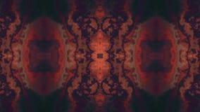 Ornamentacyjnego kalejdoskopu kopaliny marmuru tekstury chodzenia wzoru animaci czerwony tło - Nowej ilości retro rocznik zbiory wideo