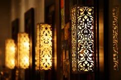 Ornamentacyjnego rocznika ścienna lampa Obrazy Stock