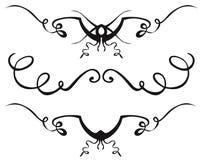 Ornamentacyjni dividers Zdjęcia Royalty Free