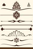 Ornamentacyjni dividers i dekoracje Obraz Royalty Free