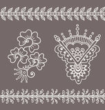 Ornamentacyjni indyjscy elementy ilustracji