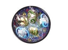 Ornamentacyjni jajka od szkła Obrazy Stock