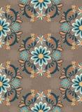 ornamentacyjni kolorowi tło kwiaty ilustracja wektor