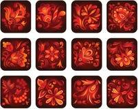 Ornamentacyjni kwiaty Zdjęcia Royalty Free