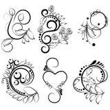 Ornamentacyjni projektów elementy - wektor Zdjęcia Royalty Free