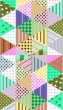 Ornamentacyjny bezszwowy patchworku wzór Obraz Royalty Free