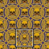 Ornamentacyjny czaszka wz?r - wektor ilustracji