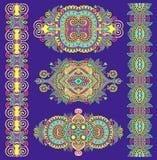 Ornamentacyjny dekoracyjny etniczny kwiecisty przybranie dla twój projekta ilustracji