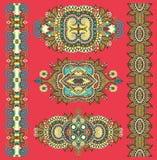 Ornamentacyjny dekoracyjny etniczny kwiecisty przybranie dla twój projekta royalty ilustracja