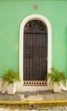 Ornamentacyjny drzwi w starym San Juan Obraz Stock