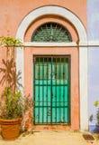 Ornamentacyjny drzwi w starym San Juan Zdjęcia Royalty Free
