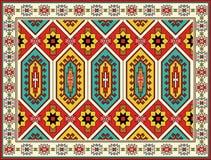 Ornamentacyjny Dywanowy projekt Plemienny wektorowy tło Zdjęcie Stock