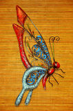 Ornamentacyjny żelazny motyl Zdjęcia Royalty Free