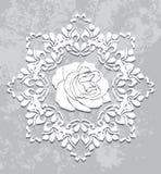Ornamentacyjny element na abstrakcjonistycznym szarym tle Zdjęcia Royalty Free