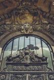 Ornamentacyjny Frontispiece szczegół Fotografia Stock
