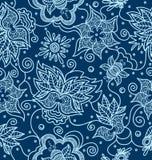 Ornamentacyjny hindusa wzór z kwiatami ilustracja wektor