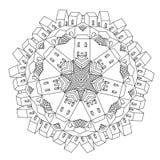 Ornamentacyjny kasztel od bajki Obrazy Royalty Free
