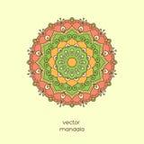 Ornamentacyjny kolorowy kwiecisty mandala Elegancki geometryczny wzór wewnątrz Obraz Stock