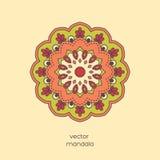 Ornamentacyjny kolorowy kwiecisty mandala Elegancki geometryczny wzór wewnątrz Obrazy Stock
