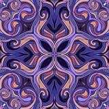 Ornamentacyjny koronkowy kwiecisty mandala kwadrata wzór Fotografia Stock