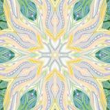 Ornamentacyjny koronkowy kwiecisty mandala kwadrata wzór Zdjęcia Royalty Free