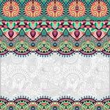 Ornamentacyjny kwiecisty ludoznawczy tło dla Obrazy Stock