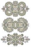 Ornamentacyjny kwiecisty przybranie Zdjęcie Royalty Free