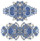 Ornamentacyjny kwiecisty przybranie ilustracja wektor