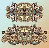 Ornamentacyjny kwiecisty przybranie ilustracji