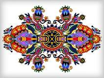 Ornamentacyjny kwiecisty przybranie royalty ilustracja