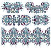 Ornamentacyjny kwiecisty przybranie dla twój projekta royalty ilustracja