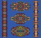 Ornamentacyjny kwiecisty przybranie, wektorowa ilustracja royalty ilustracja