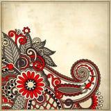 Ornamentacyjny kwiecisty wzór z miejscem dla twój teksta Zdjęcia Stock