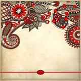 Ornamentacyjny kwiecisty wzór z miejscem dla twój teksta Zdjęcie Royalty Free