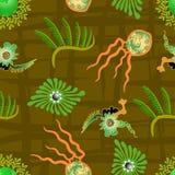 Ornamentacyjny liść płytki wzór Obrazy Stock