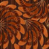Ornamentacyjny luksusowy kwiecisty bezszwowy wzór Wektorowy ozdobny pasiasty tło Rocznik ręka rysujący Paisley kwitnie, liście, l ilustracji
