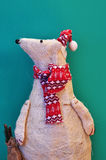 Ornamentacyjny niedźwiedź polarny Fotografia Royalty Free