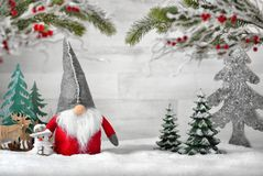 Ornamentacyjny przygotowania dla zimy i bożych narodzeń obraz stock