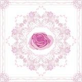 Ornamentacyjny purpurowy element z wzrastał Fotografia Stock
