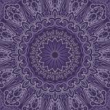 Ornamentacyjny purpurowy round tło Fotografia Stock