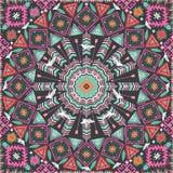Ornamentacyjny round aztec geometryczny wzór Obraz Royalty Free