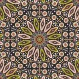 Ornamentacyjny round geometryczny miejscowego stylu wzór Zdjęcia Stock