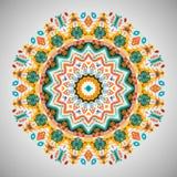 Ornamentacyjny round geometryczny wzór w aztec stylu Obraz Stock