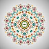Ornamentacyjny round jaskrawy moda wzór w aztec Zdjęcia Royalty Free