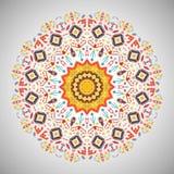 Ornamentacyjny round kolorowy geometryczny wzór wewnątrz Zdjęcie Royalty Free