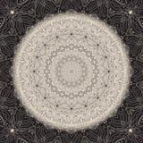 Ornamentacyjny round koronki wzór Obrazy Stock